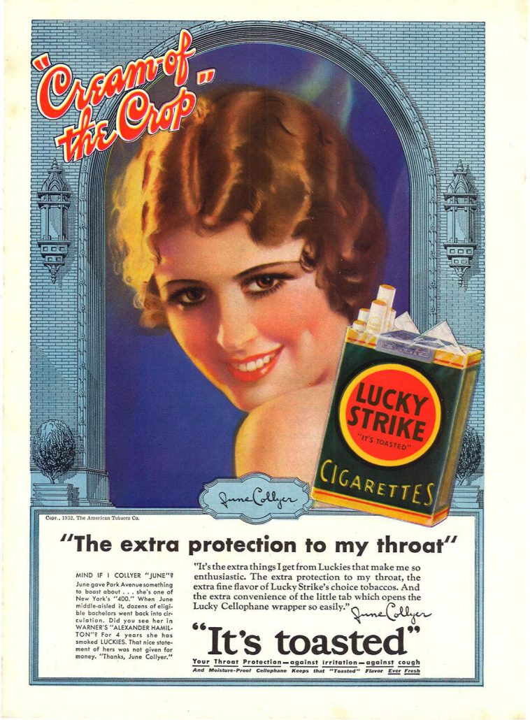 1932 June Collyer for Lucky Strike