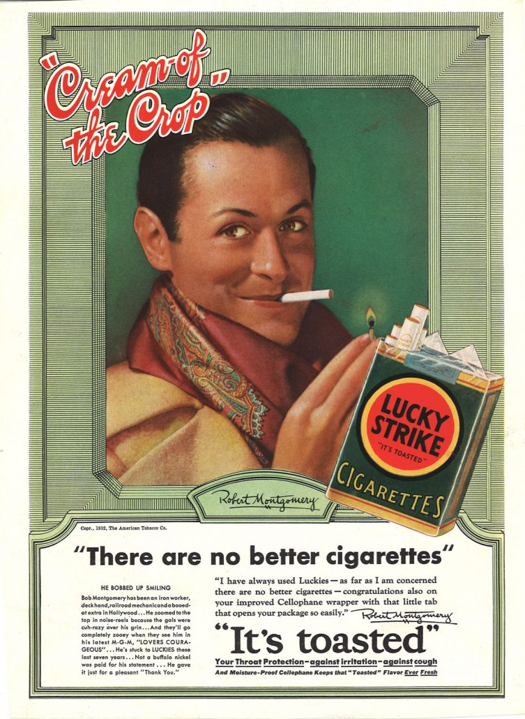 1932 Robert Montgomery for Lucky Strike