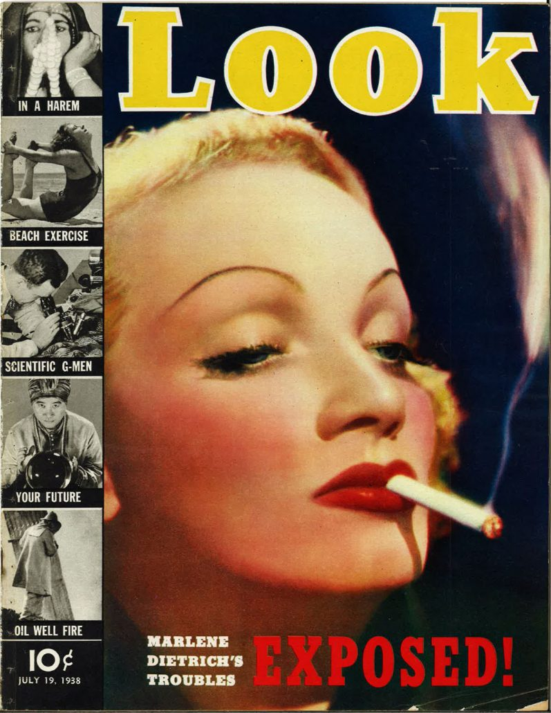 1938 Look Marlene Dietrich Smoking