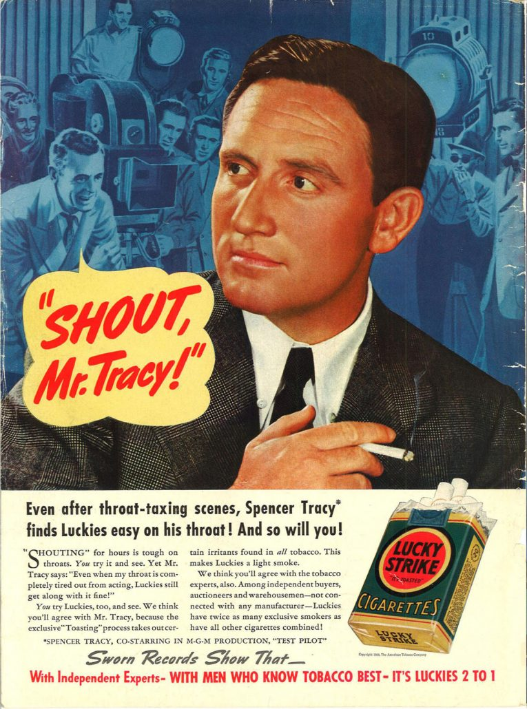 1938 New Yorker Spencer Tracy for Lucky Strike