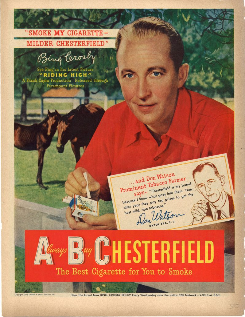 1950 Bing Crosby for Chesterfield