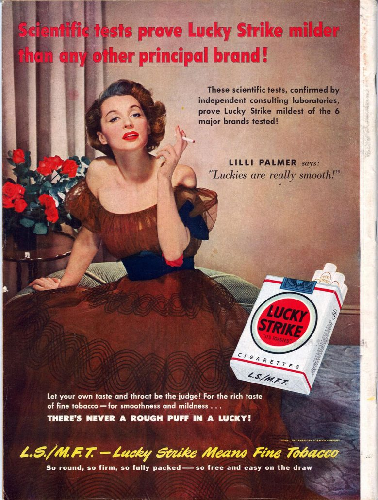 1950 Life Lilli Palmer for Lucky Strike