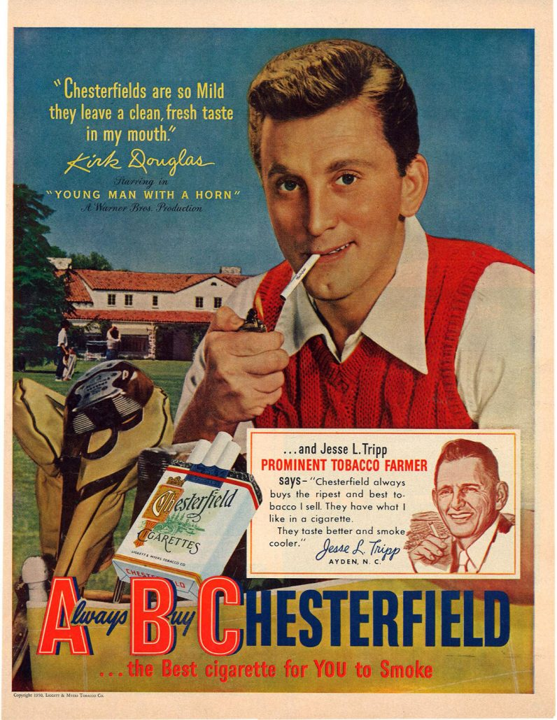 1950 McCalls Kirk Douglas for Chesterfield