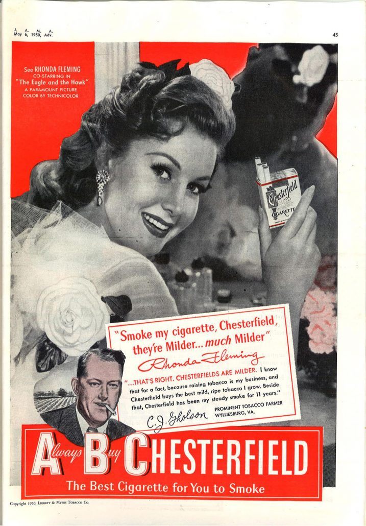 1950 Rhonda Fleming for Chesterfield