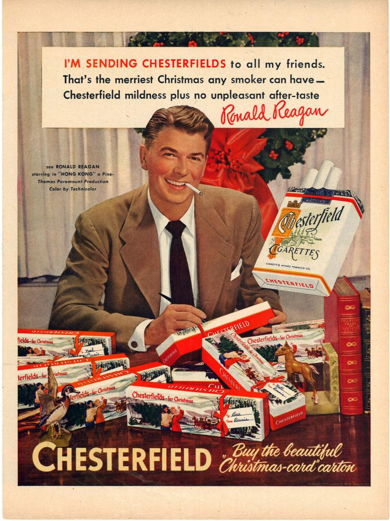 1951 Life Ronald Reagan for Chesterfield