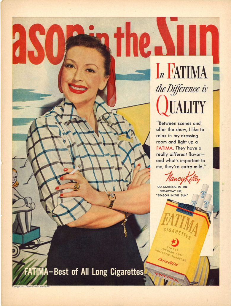 1951 Nancy Kelly for Fatima