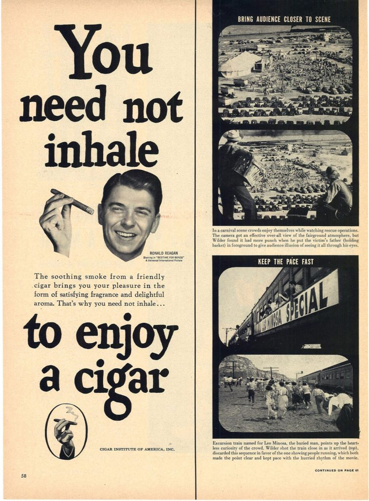 1951 Ronald Reagan for Cigar Institute of America Inc