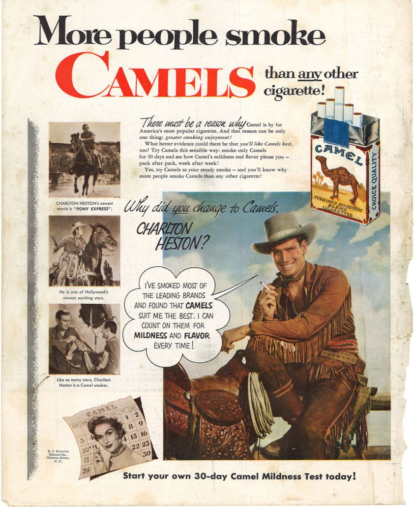 1953 Charlton Heston for Camel