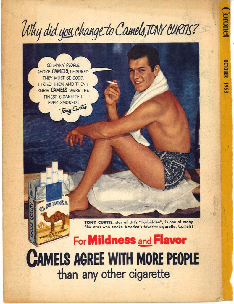 1953 Coronet Tony Curtis for Camel