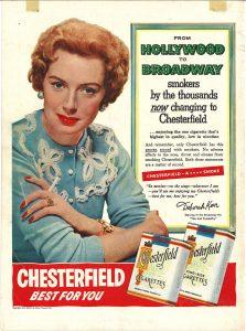 1954 Deborah Kerr for Chesterfield