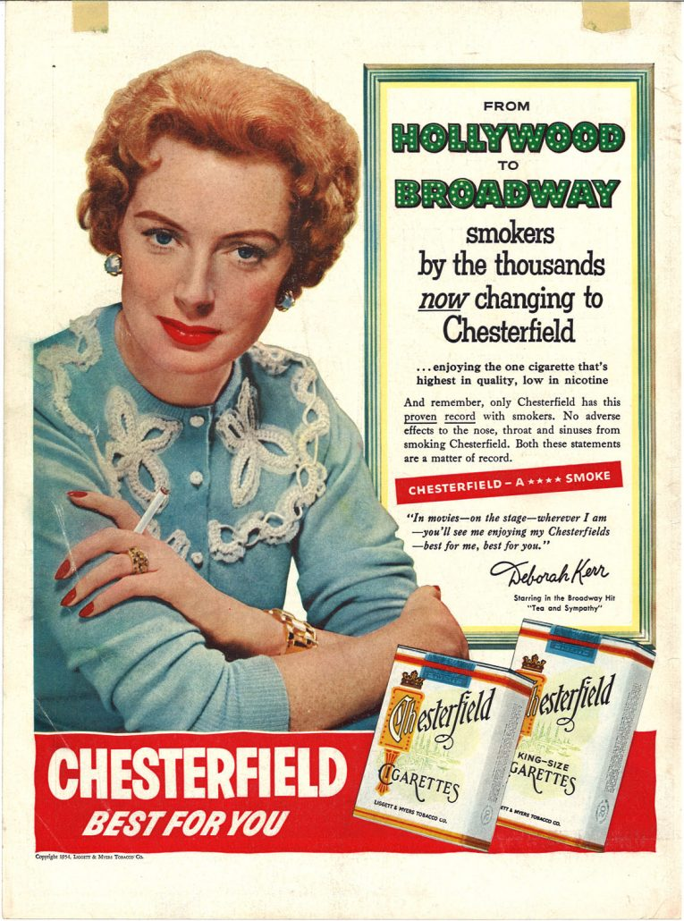 1954 Deborah Kerr for Chesterfield