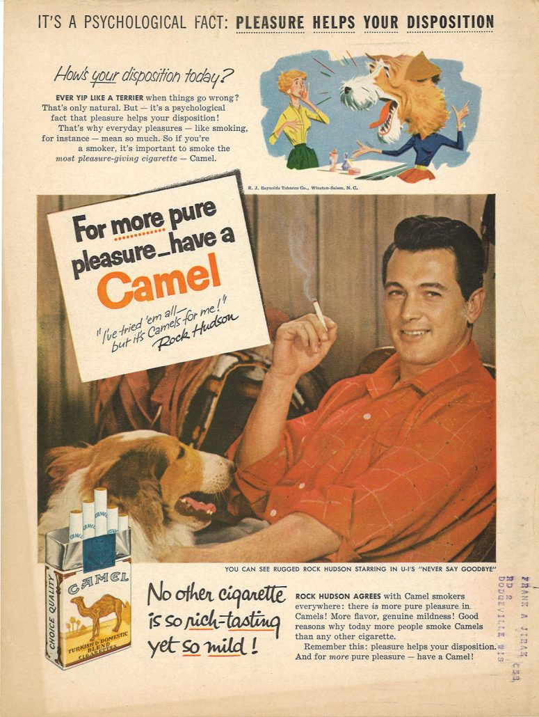 1956 Rock Hudson for Camel