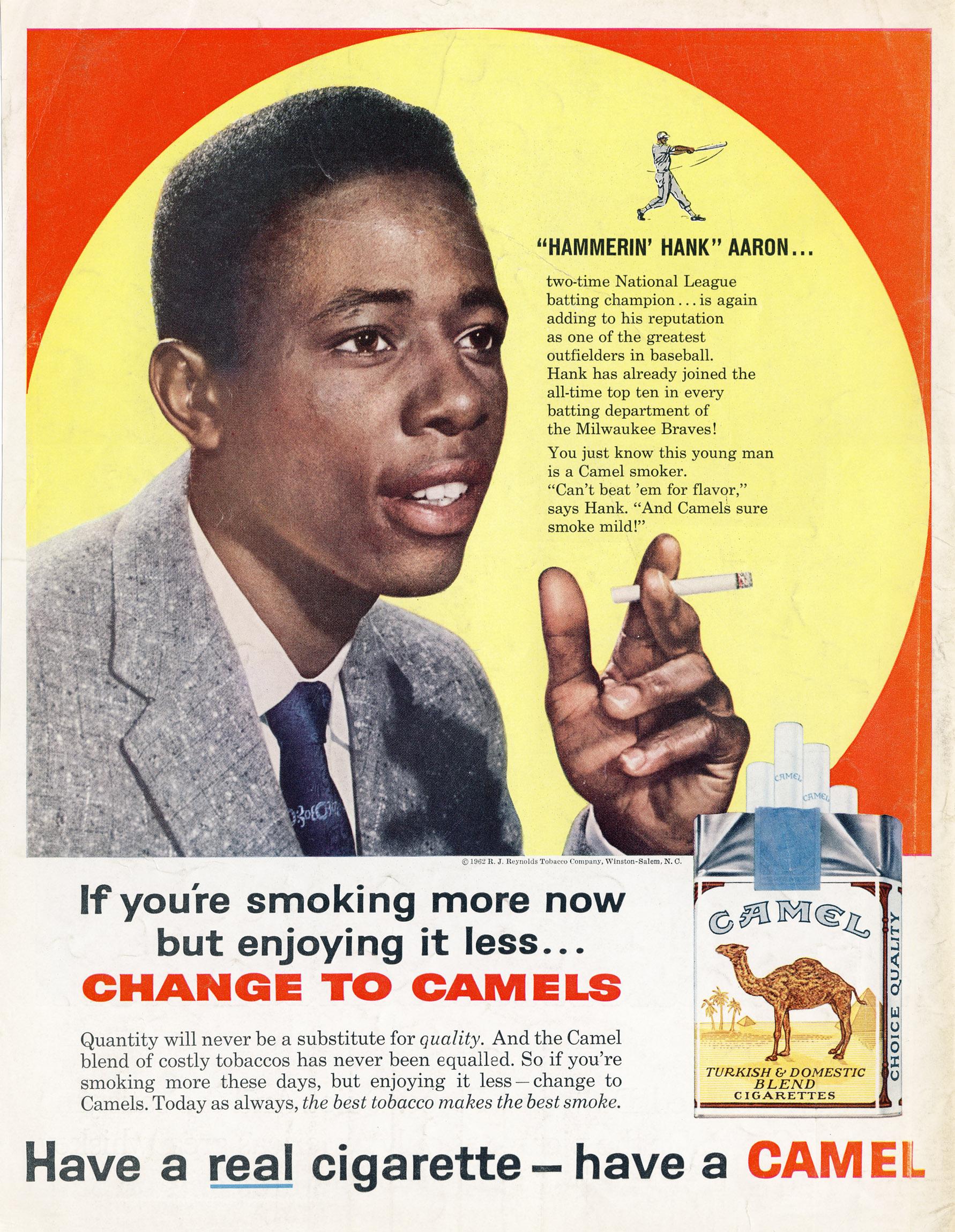 1962 Hank Aaron for Camel