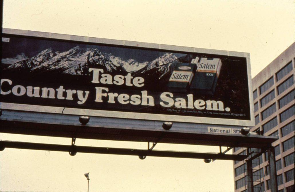 1978 Salem Billboard Taste Country Fresh