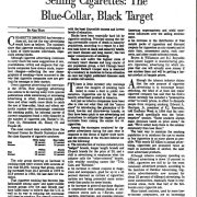1986 05 18 Wash. Post Selling Cigs The Blue Collar Black Target Pg 1 1