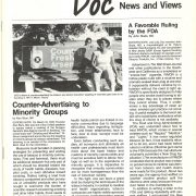 1987 DOC News Views Counter Advertising to Minority Groups Pg 1