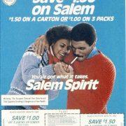 1987 Salem Coupon Save 1.50