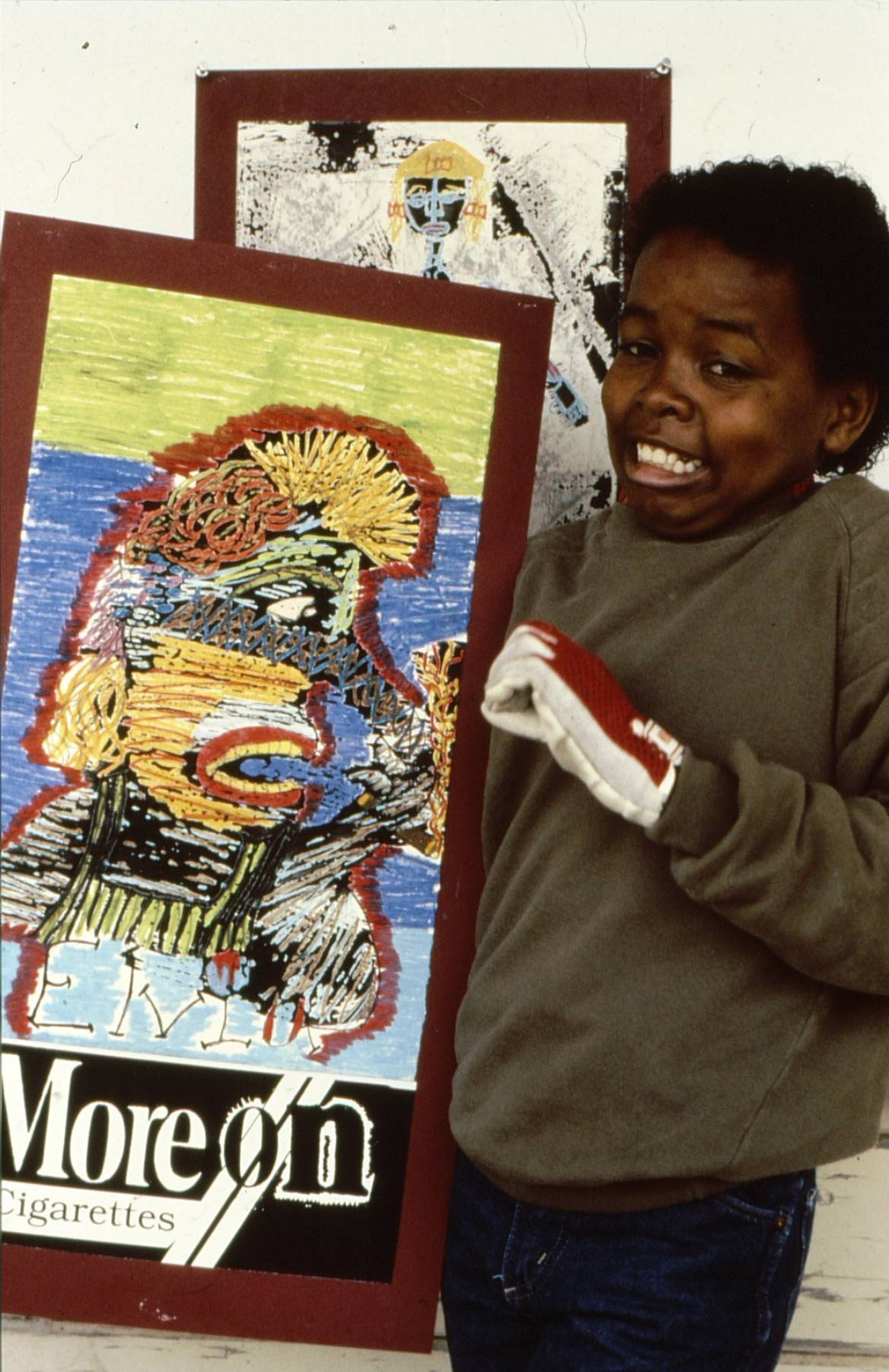 1989 Student with More On Poster