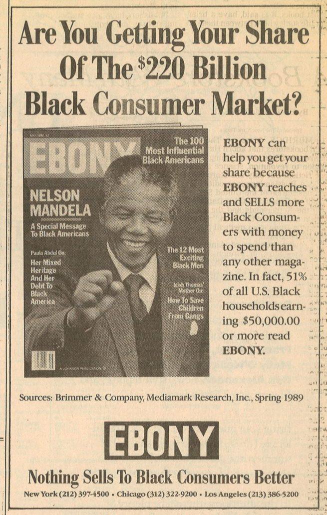 1990 05 14 NY Times Ebony Magazine Ad