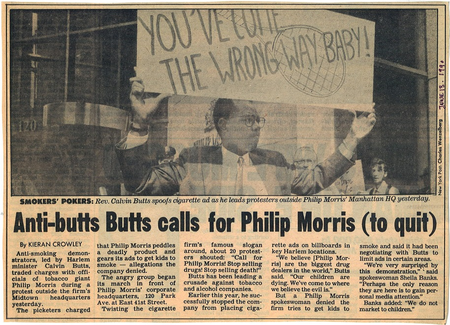 1990 06 13 NY Post Anti Butts Butts Calls for PM to Quit 1