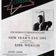 1990 Houston Style Kirk Whalum Concert Sponsor RJR 1