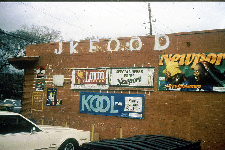 1990 Newport Kool Ads on Storefront