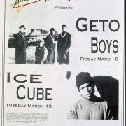 1991 Houston Style Geto Boys Ice Cube Concerts Ad 1