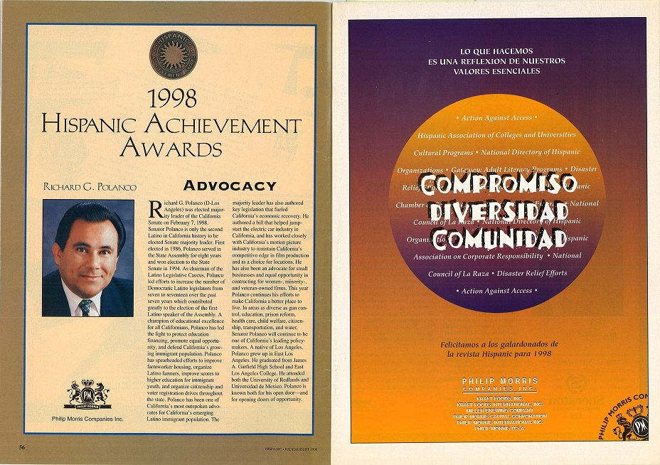 1998 07 Hispanic Mag Achievement Awards PM Ad 1