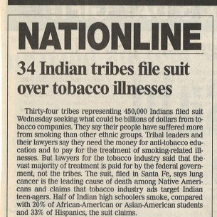 1999 06 17 USA Today 34 Indian Tribes File Suit