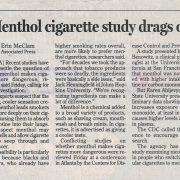 2002 03 23 Tusc News Menthol Cig Study Drags On