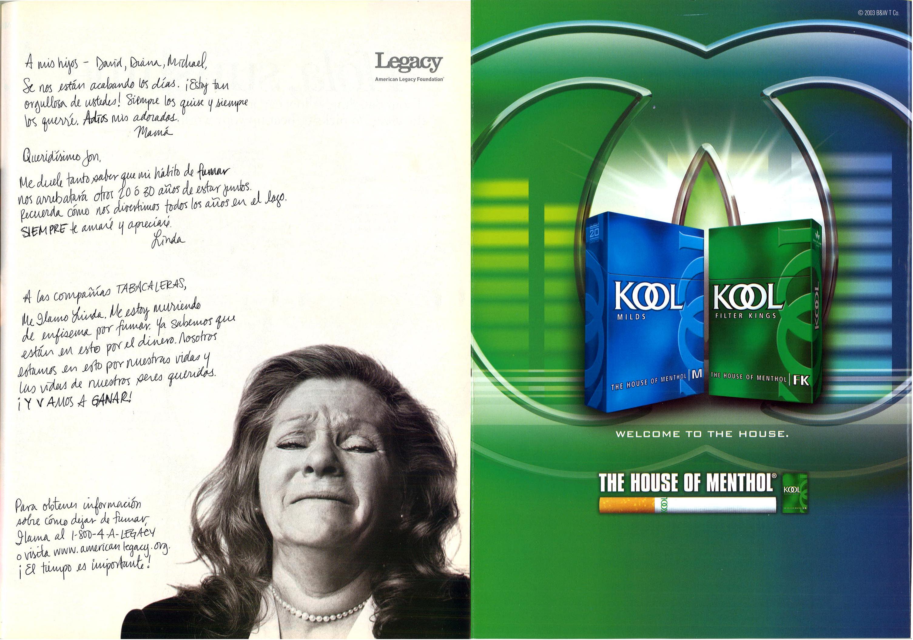 2003 06 Latina American Legacy Foundation Ad Kool Ad