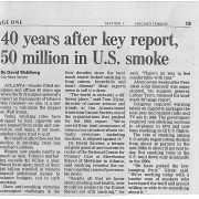 2004 Chicago Tribune 40 Years After Report 50 Million in US Smoke Minorities and Tobacco