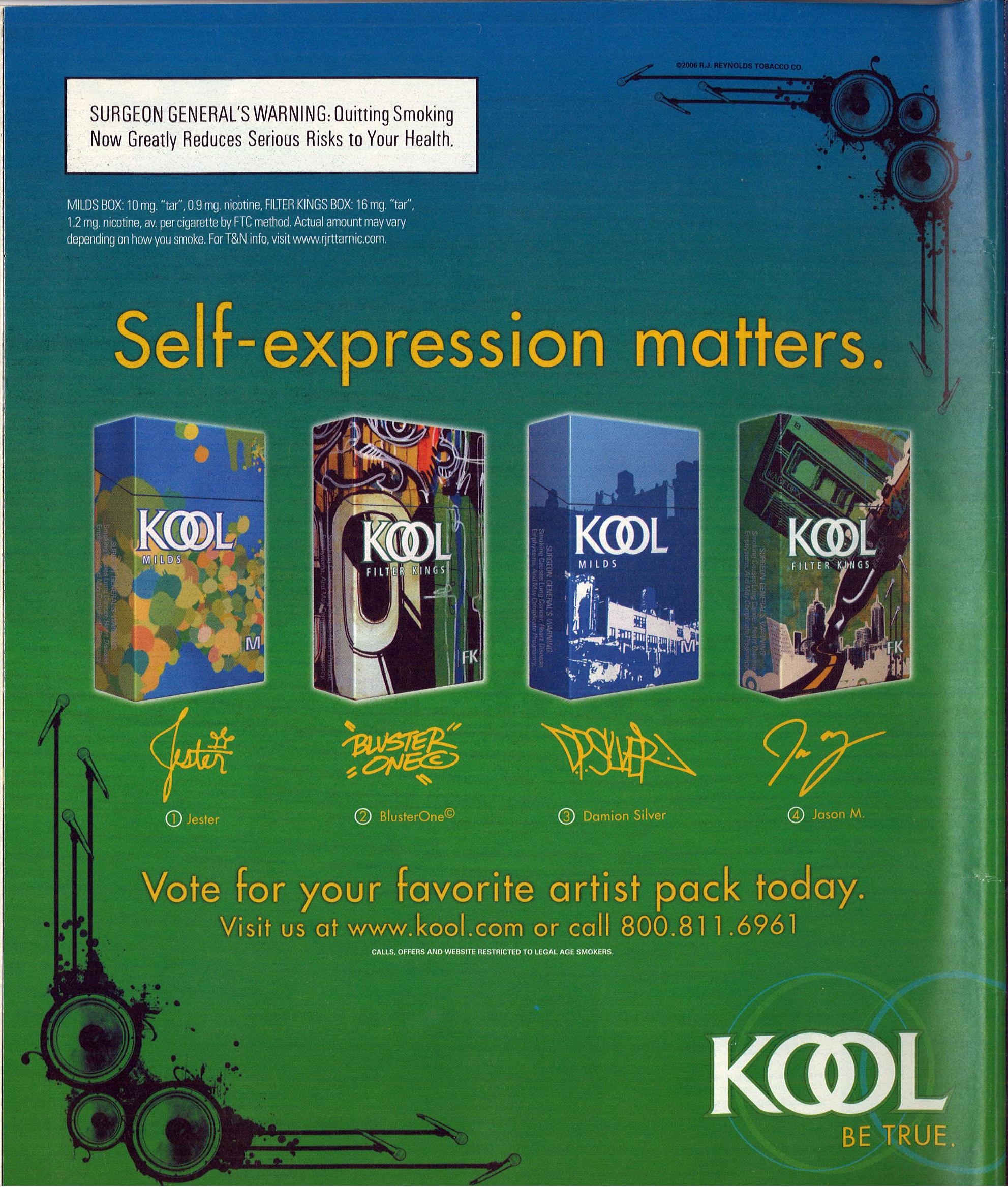 2006 03 09 Rolling Stone Kool Ad Self Expression Matters