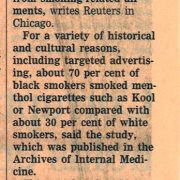 2006 09 26 Financial Times Menthol Habit Hits Black Smokers Pg 1