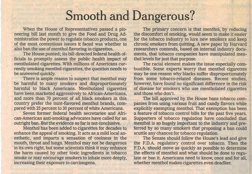 2008 08 14 NY Times Smooth Dangerous 3