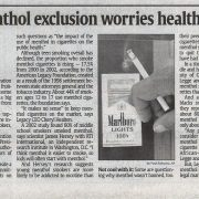 2009 09 28 USA Today Bans Menthol Exclusion Worries Health Experts 2