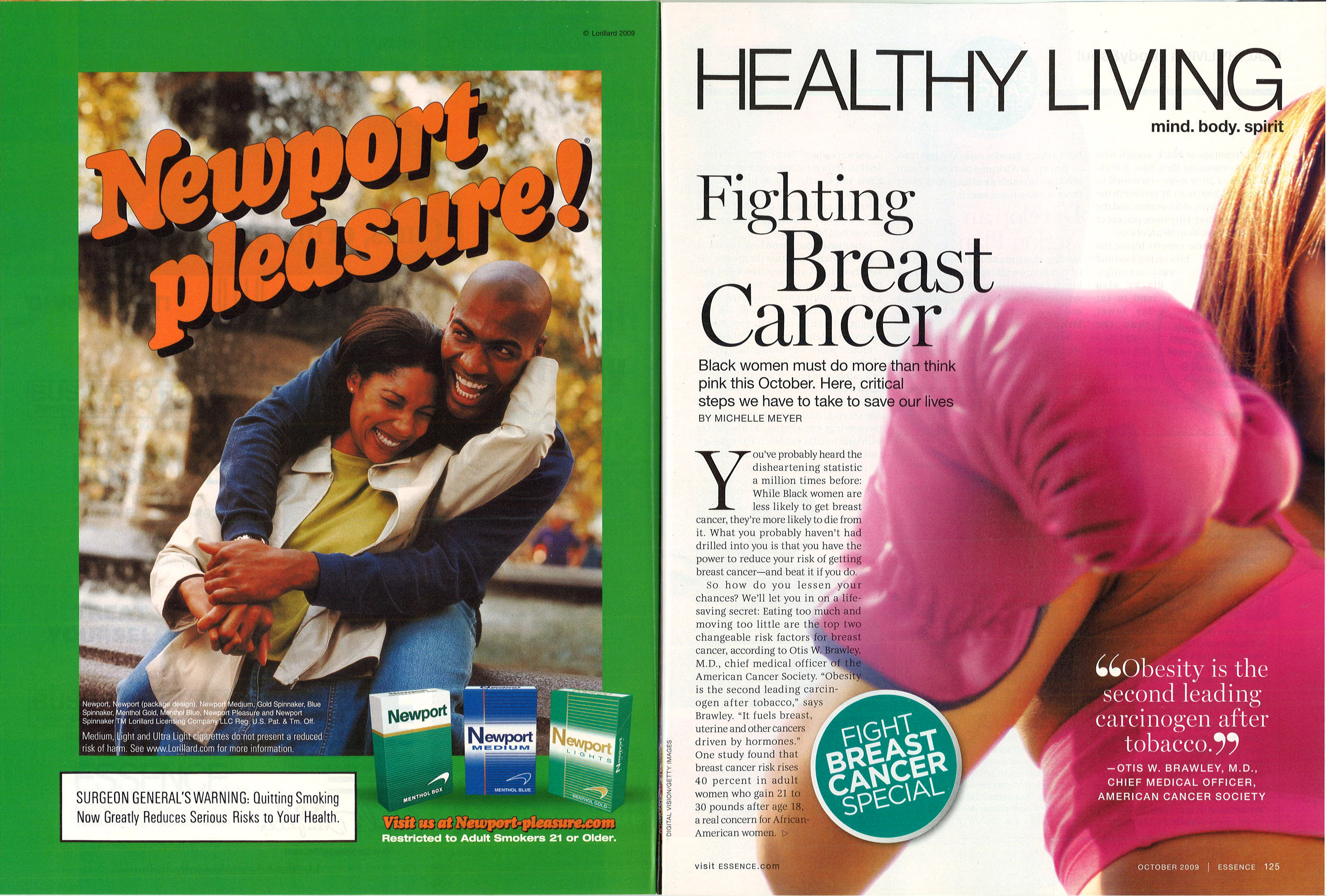 2009 10 Essence Newport Ad Fighting Breast Cancer