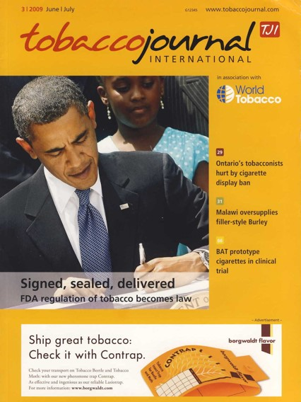 2009 Tobacco Journal International FDA Regulation of Tobacco