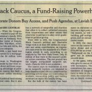 2010 02 14 NY Times In Black Caucus A Fund Raising Powerhouse Pg 1