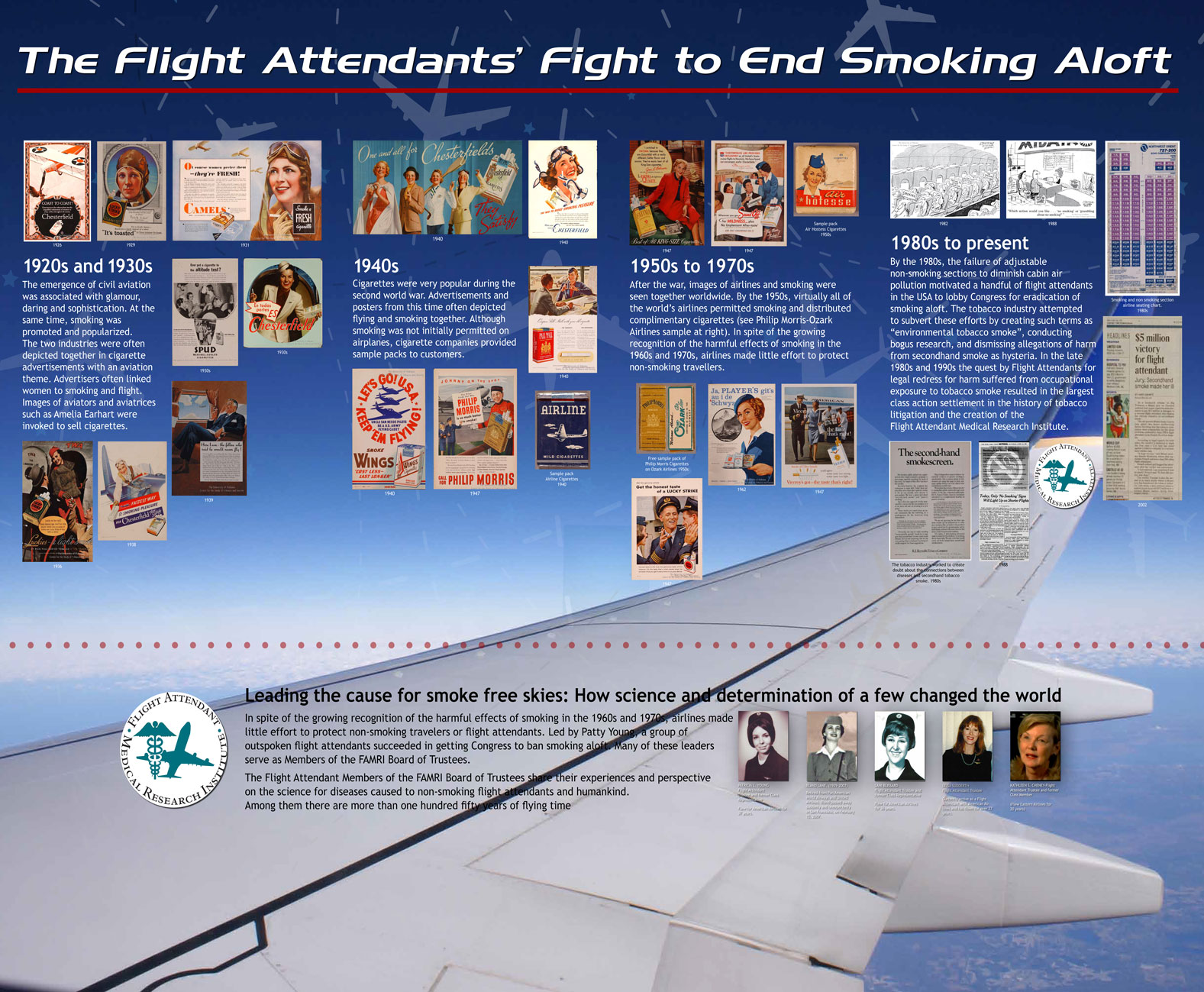 2012 Updated Flight Attendants Fight to End Smoking Poster