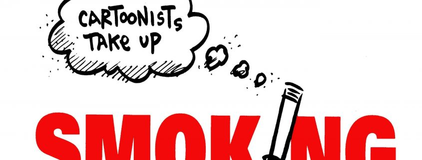 Cartoonists Take Up Smoking Logo