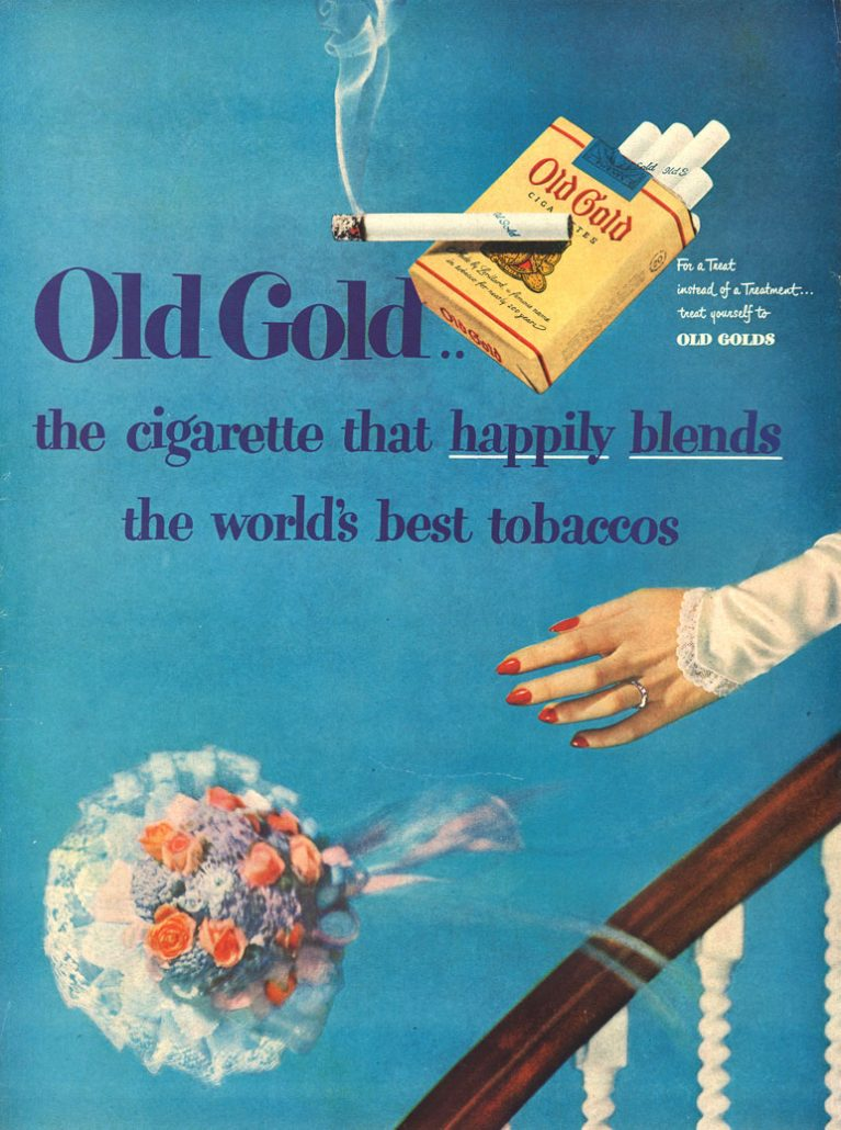 n.d. Old Gold the cigarette that happily blends the worlds best tobaccos
