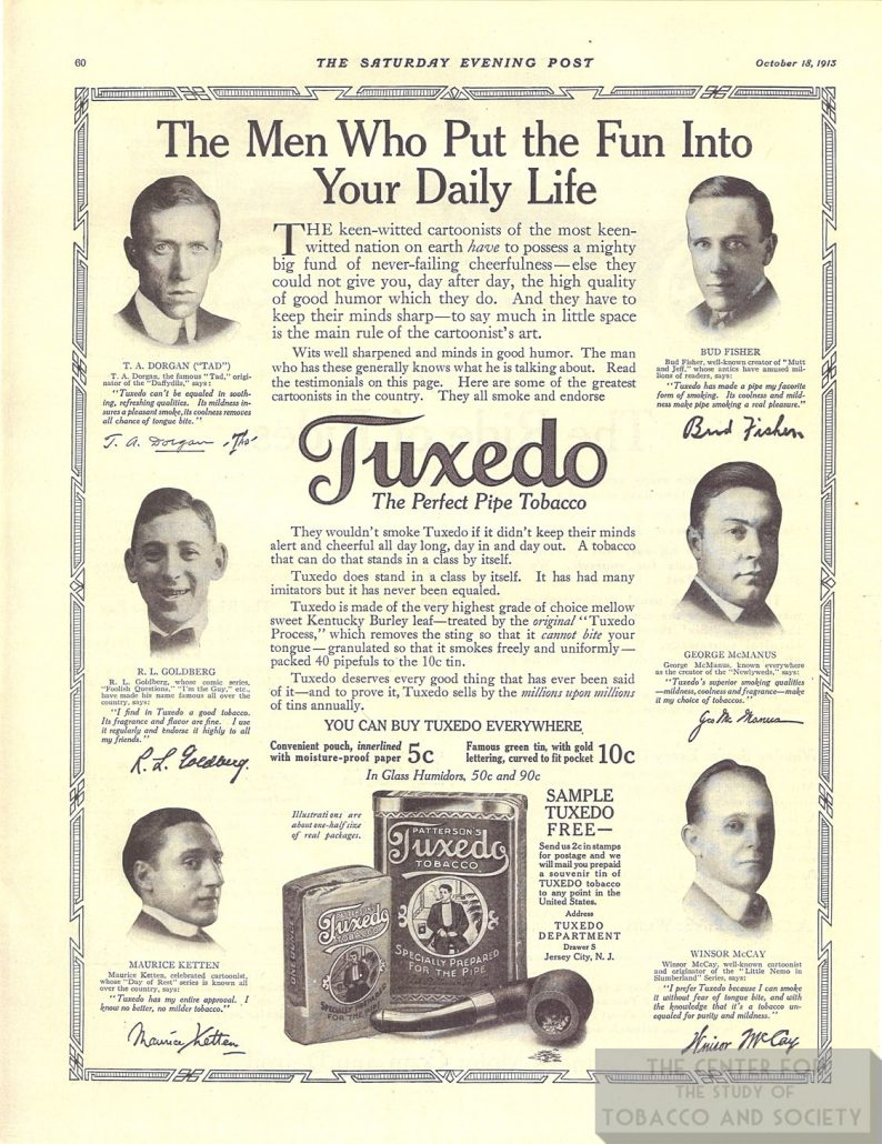 1913 10 18 Sat Eve Post Cartoonists for Tuxedo 1