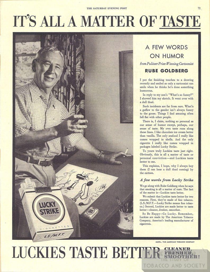 1948 Sat Eve Post Rube Goldberg for Lucky Strike 1