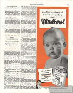 1950 Marlboro Baby Ad Gee Dad You Always Get the Best 1