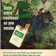 1966 Kool Ad Taste Extra Coolness As You Smoke