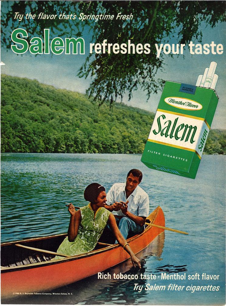 1966 Salem Ad Refreshes Your Taste