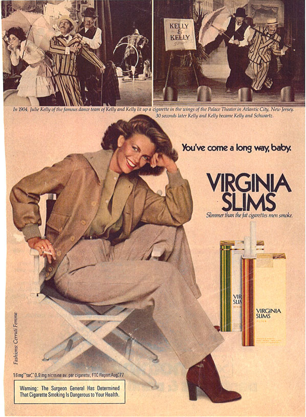 1977 Virginia Slims Ad Youve Come a Long Way