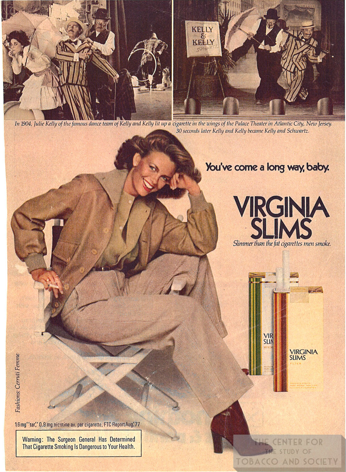 1977 Virginia Slims Ad Youve Come a Long Way 1 1