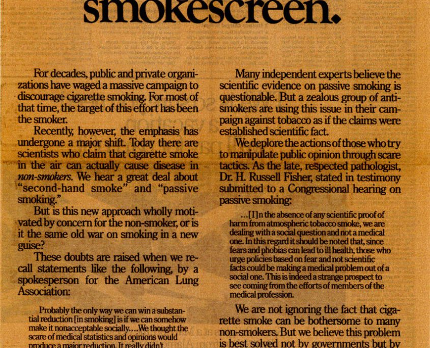 1985 06 06 WA Post RJ Reynolds Ad 2nd Hand Smokescreen 1